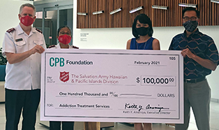 CPB Foundation Appoints Keith Amemiya Executive Director, Awards $100,000 Grant to The Salvation Army Hawaiian & Pacific Islands Image