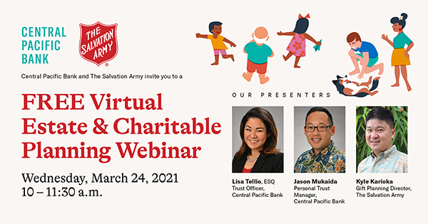 FREE Virtual Estate Planning and Charitable Giving Webinar